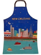 New Orleans Riverfront at Night Chef's Apron