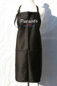 "Black Embroidered Apron ""Patriots fans heat it up"""