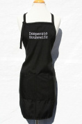 "Black ""Desperate Housewife"" Embroidered Apron"