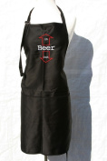 "Black Embroidered Apron ""Beer - in and out"""