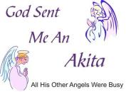 Akita - God Sent Me A Akita Apron