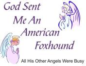 American Foxhound - God Sent Me A American Foxhound Apron