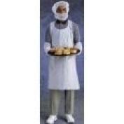 Ansell 71.1cm X 116.8cm White 1.25 Mil Embossed Polyethylene Disposable Apron