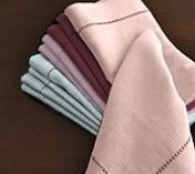 Hemstitch Dinner Napkins Pale Pink 1 Dozen