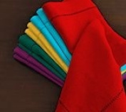 Hemstitch Dinner Napkins Red 1 Dozen