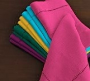 Hemstitch Dinner Napkins Hot Pink 1 Dozen