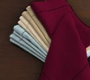 Hemstitch Dinner Napkins Burgundy 1 Dozen
