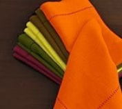 Hemstitch Dinner Napkins Paprika 1 Dozen