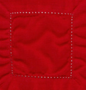 Red 6x6 Hemstitch Cocktail Napkins 1 Dozen