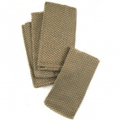Ambiance Golden Bronze Two Tone Cloth Napkins, Set of 12