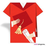 Stand Up Napkins - TN-010 - CAP & GOWN, RED