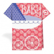 Stand Up Napkins - TN-098 - BABY CARRIAGE, PINK