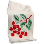 Red and White Kitchen Cherries Kitchen Flour Sack Towel