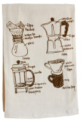 Girls Can Tell Coffee Lovers Diagram Floursack Towel TN013 - unbleached cotton