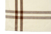 100% Cotton Brown and Cream Kitchen Towels Made of Soft Homespun Fabric