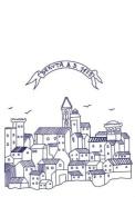 City of Deruta Dish Towel