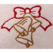 Christmas Bells and Bow Flour Sack Dish Towel