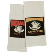 Latte Cappuccino Flour Sack Kitchen Towel - Set of 4