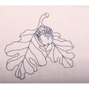 Acorn and Oak Leaves Outline Flour Sack Dish Towel