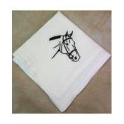 Bridled Horse Head Flour Sack Dish Towel