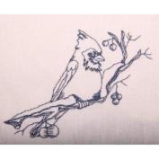 Cardinal on Branch Flour Sack Dish Towel