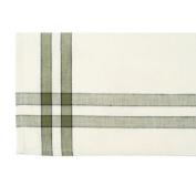 Cream Towel W/Sage & Black Stripes 50.8cm X73.7cm -