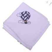 Cross Stitch Hot Air Balloon Flour Sack Dish Towel