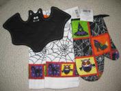 Halloween Owl, Bat, Spider-web, Witch Kitchen Towel Set