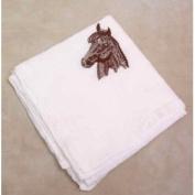 Morgan Horse Head Flour Sack Dish Towel
