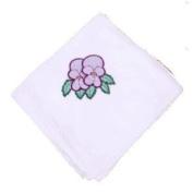 Purple Violets Flour Sack Dish Towel