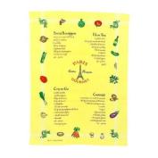 Souvenirs of France - Paris Dish Towel - Colour : Yellow