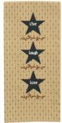 Three Star Embroidered Dish Towel
