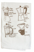 Girls Can Tell Coffee Lovers Diagram Floursack Towel TW013 - white cotton