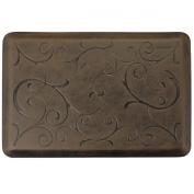 WellnessMats MB32WMRDB 0.9m x 0m x 0.9m x 0m Antique Motif Bella in Antique Dark Doormat