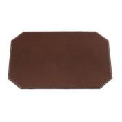 Dacasso Cut Corner Brown Leatherette Placemat, 43.2cm by 30.5cm