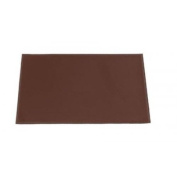 Dacasso Rectangular Brown Leatherette Placemat, 43.2cm by 30.5cm