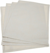 Mahogany Victoria Ivory Jacquard-Weave Placemat 33cm by 48.3cm , Set of 4, 100-Percent Cotton