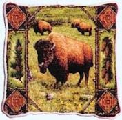 Buffalo Lodge Woven Pillow
