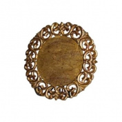 Abigails Vendome Round Gold Leaf Placemat