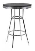 Winsome Wood Summit Pub Table with Metal Legs, MDF Black Top [Misc.] MPN