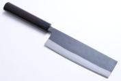 """Yoshihiro - Blue Steel Kuro Uchi Chef Knife Nakiri / Usuba /Vegetable Knife 6.5"""" 165mm - Made in Japan"""