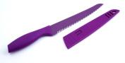 Hampton Forge Tomodachi 20.3cm Bread Knife, Purple