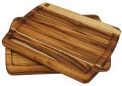 Madeira 1200 Provo Teak Edge-Grain Brazilian Steak Boards, Set of Two