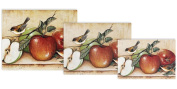 Magic Slice Non-Slip Flexible Gourmet/Chef/Party Size Cutting Boards, Apples and Warblers by David Carter Brown