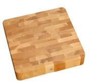 J.K. Adams 40.6cm Square Maple Wood End-Grain Cherry Chunk Cutting Board