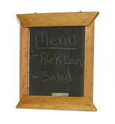 J.K. Adams 35.6cm -by-30.5cm Hanging Slate Chalk Board with Maple Wood Border, Chalk Included