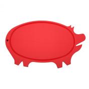 Linden Sweden Daloplast Pig Shaped Cutting Board, Red