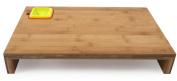 Core Bamboo Prep Station with Measurement Bowls, Strawberry/Mandarin/Banana/Lime, Large