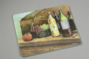 15 X 12 Wine Tempered Glass Surface Saver Cutting Board