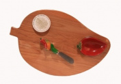 Out of the Woods of Oregon Chilli Pepper Shaped Board with Dipping Bowl and Spreader